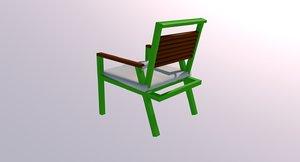 3d model designed chair