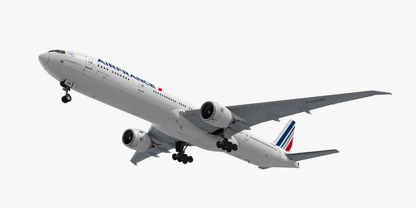 3d boeing 777-300 plane air france