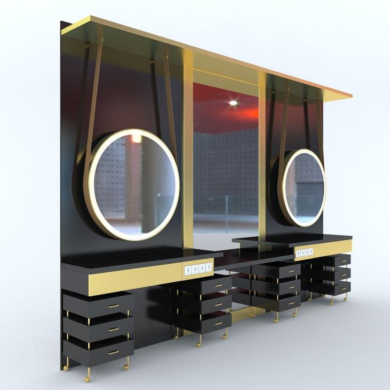furniture salons 3d model
