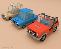 Cartoon Car Pack Low Poly