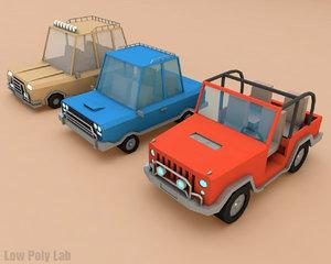 3d car set