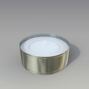3d model tea light