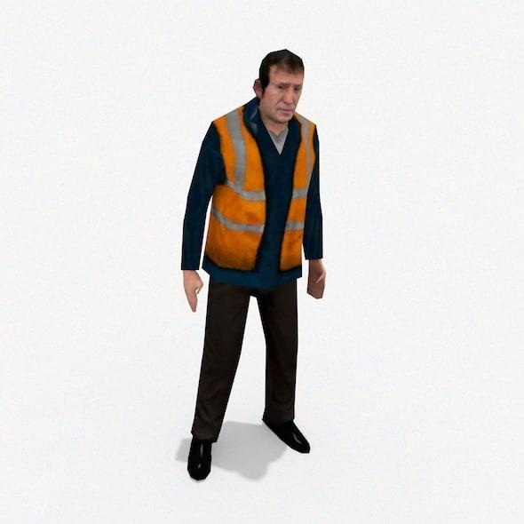 workman character 3d 3ds