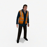 workman character 3d 3ds
