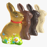 chocolate bunnies 3d x
