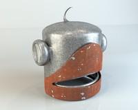 robot head 3d ma