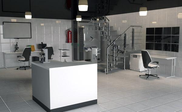 laboratory equipment 3d c4d