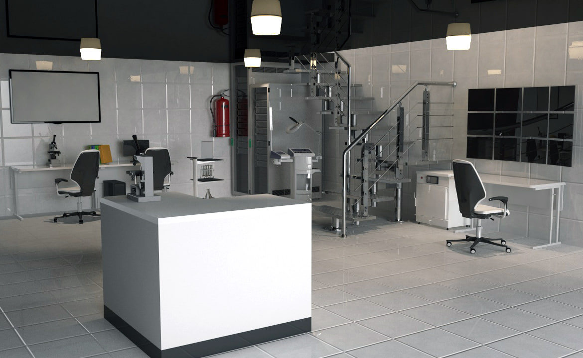 laboratory equipment 3d c4d