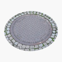 manhole cover 3d model