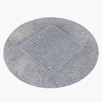 3d max manhole cover