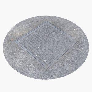 3d max manhole cover