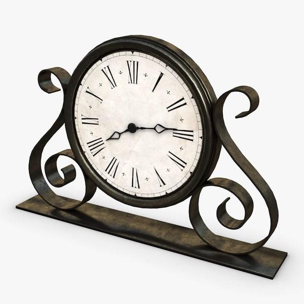 3d model old clock