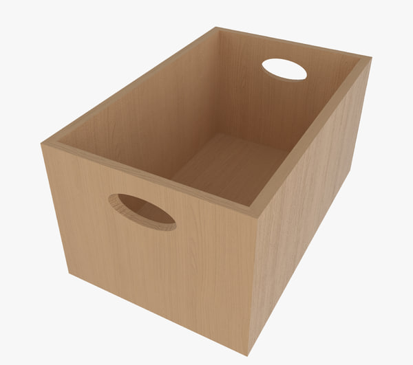 3d wooden box wood
