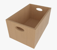 3d wooden box wood