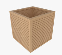 wooden box wood 3d model