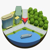 3d navigation symbol icon