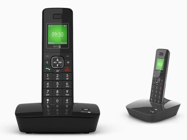3d model doro th80 phone