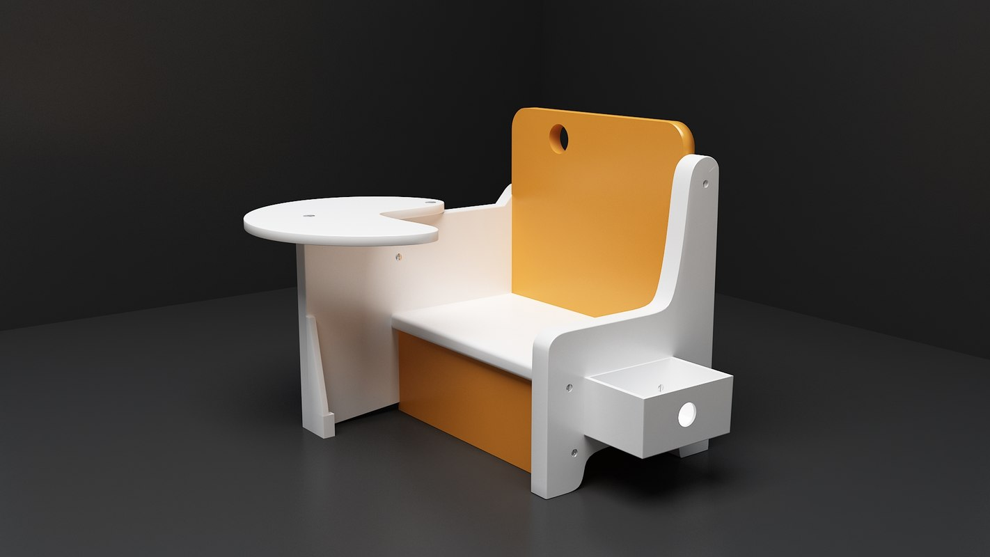 3d model kids chair
