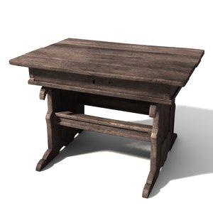 medieval table 3d model