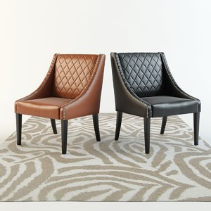 sloping armchair leather chair 3d max