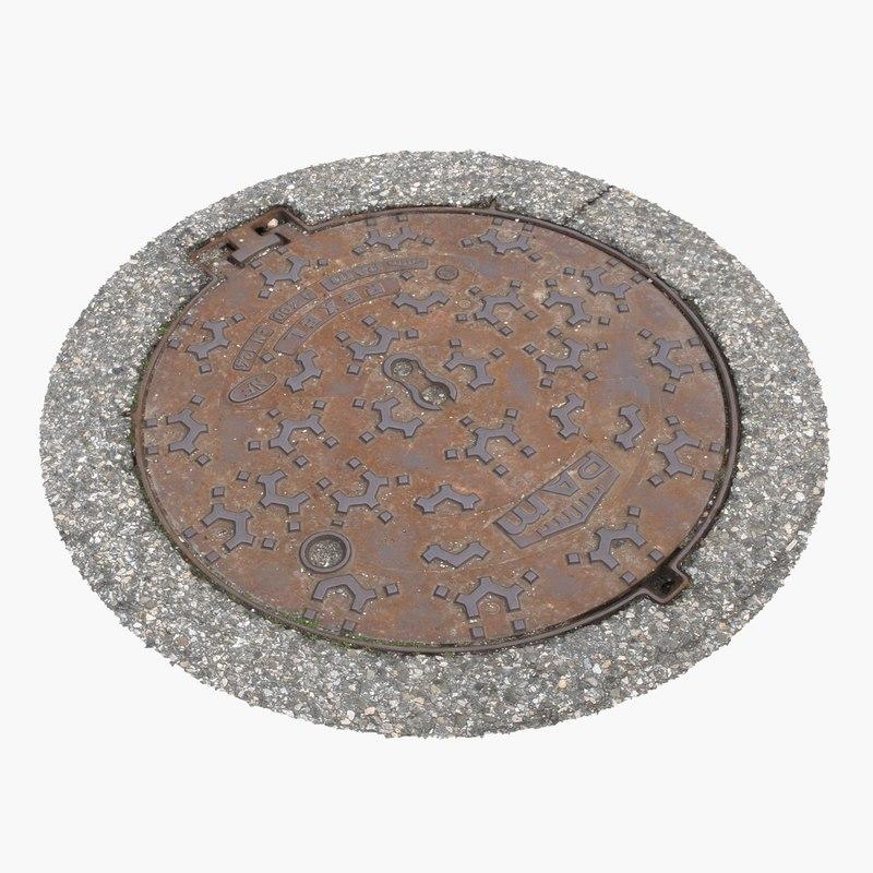 obj manhole cover