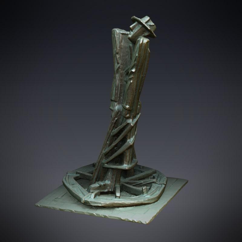 3d statue blind