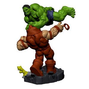 hulk juggernaut 3d model