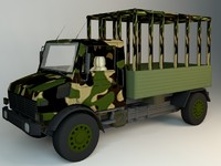 army truck 3d model