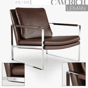 camerich leman lounge 3d obj