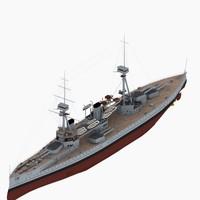 3d hms neptune battleship