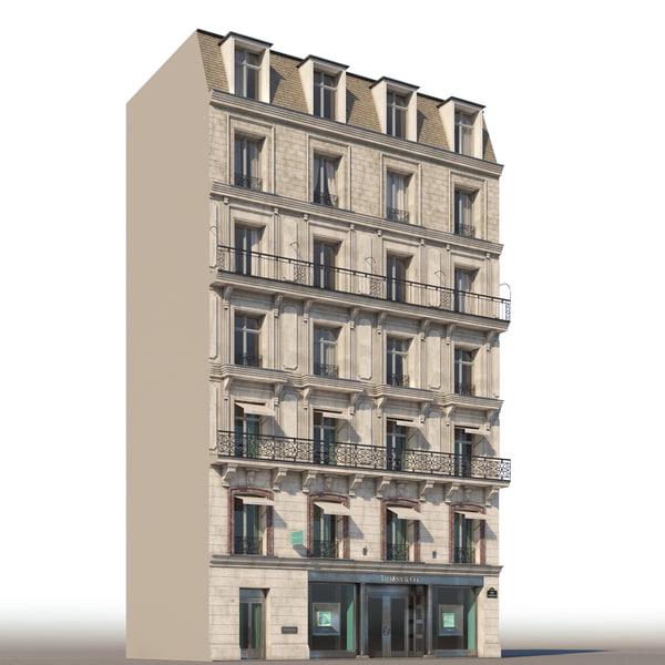 3d model fasade champs-elysees