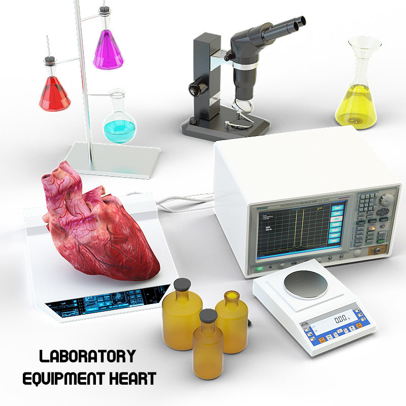 3d max lab equipment heart