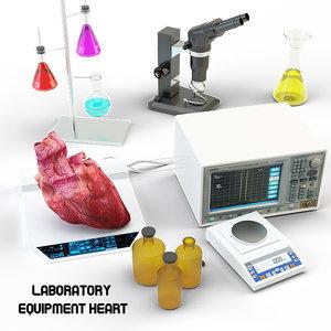 3d max lab equipment heart