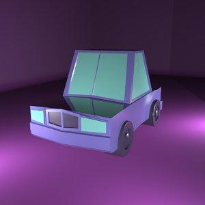 cartoon car 3ds