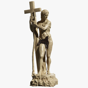 christ carrying cross 3d model