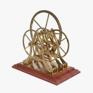 3d laboratory friction wheels atwood model