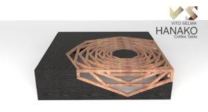 3d model of hanako coffee table vito