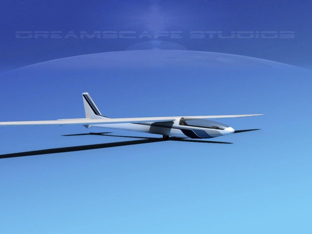 3d model glider zefir 4