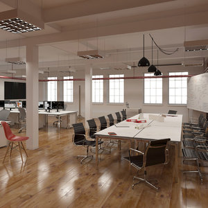 3d model generic loft office