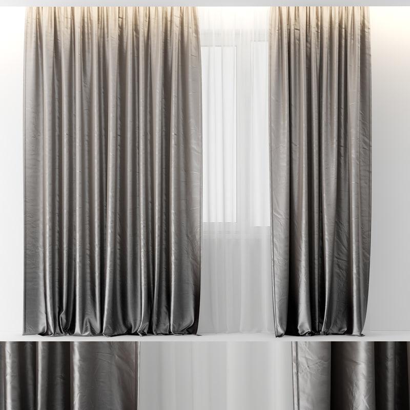 curtains gradient 3d model