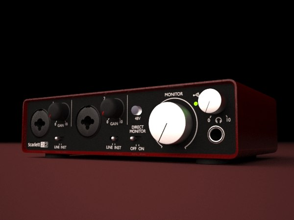 3d model hq focusrite scarlett 2i2