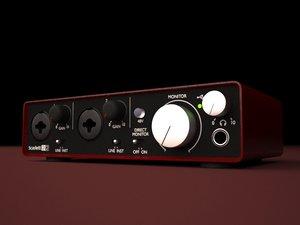 3d model hq focusrite scarlett 2i2