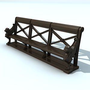 3d lwo french bench