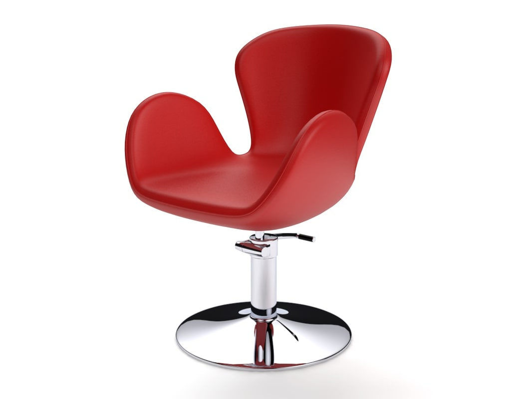 c4d hairdressing chair
