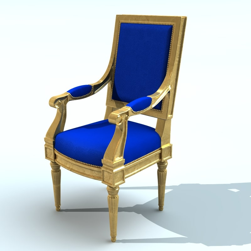 obj renaissance throne