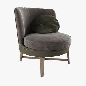 3d model feel good soft armchair