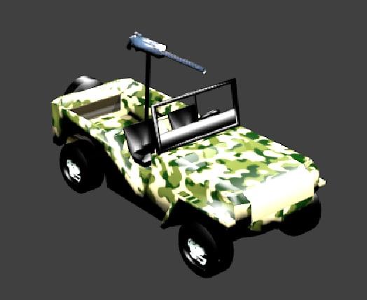 3d model military jeep