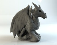 3d model stone gargoyle dragon