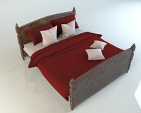 Bed with linen