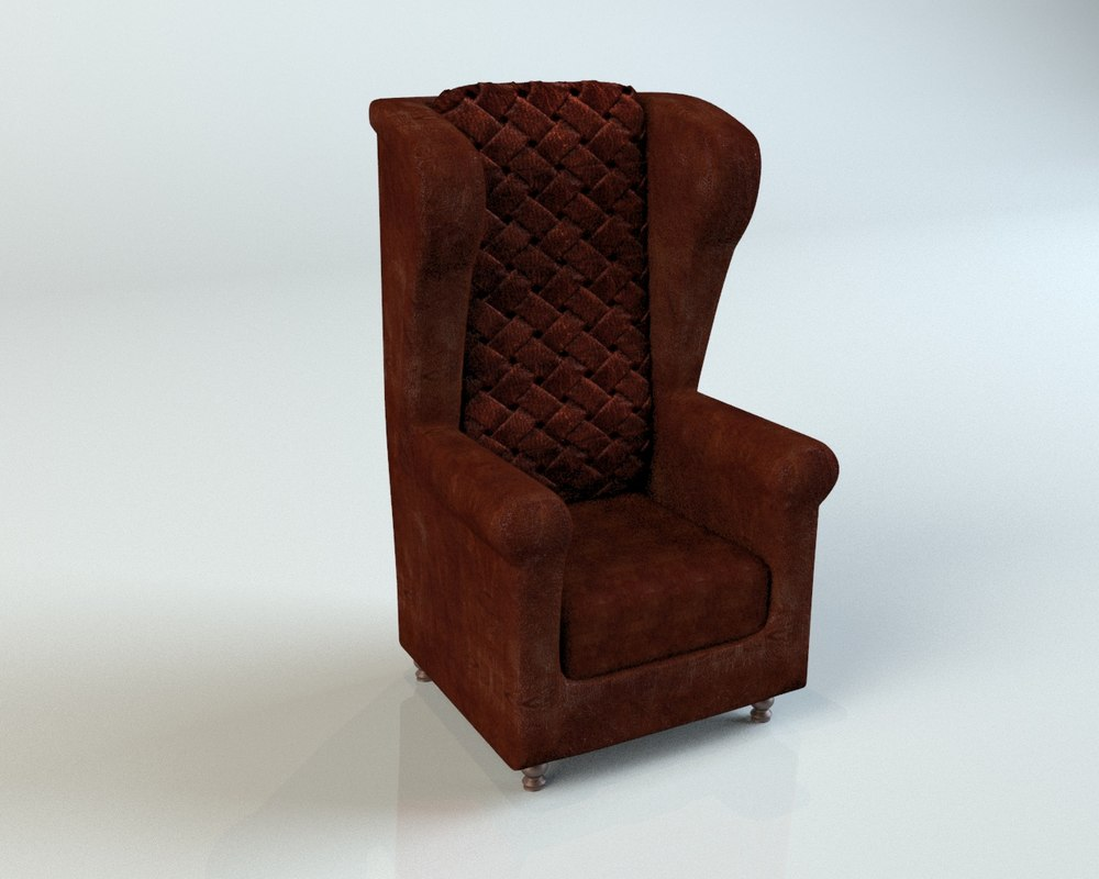 old leather armchair 3d model